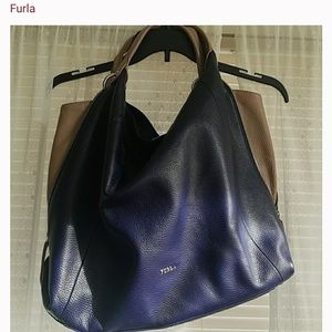 Reserved-on Hold Authentic Navy Furla crossbody